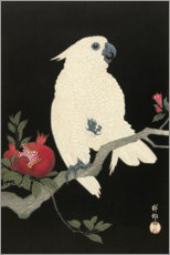 Wall sticker  Cockatoo and pomegranate - Ohara Koson