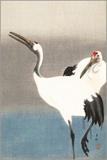 Gallery print  Heron pair on the river bank - Ohara Koson