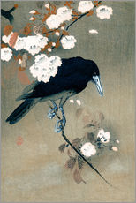 Wall sticker Crow and blossom