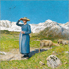 Gallery print  Lunch in the Alps - Giovanni Segantini