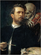 Wall sticker  Self-Portrait with Death Playing the Fiddle - Arnold Böcklin