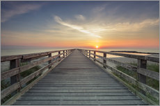 Gallery print  Schoenberger beach jetty at sunrise - Dennis Stracke