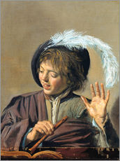Gallery print  Singing Boy with Flute - Frans Hals