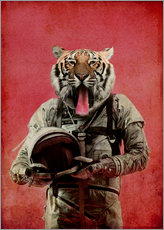 Gallery print  Space tiger - Durro Art