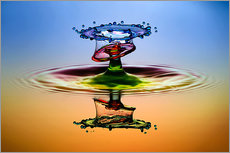 Muhammad Berkati - Water droplets in rainbow colors