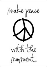 Gallery Print  make peace - m.belle