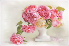 Wall sticker  pink roses - Lizzy Pe