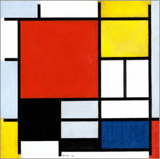 Wall sticker  Composition with red, yellow, blue and black - Piet Mondriaan