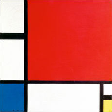 Wall sticker  Composition with Red, Yellow and Blue - Piet Mondriaan