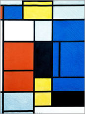Wall sticker  Tableau No. 1 - Piet Mondriaan