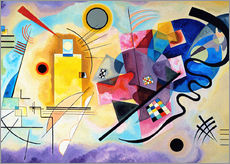 Wall sticker  Yellow, red and blue - Wassily Kandinsky