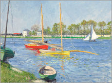 Wall sticker  The Seine at Argenteuil - Gustave Caillebotte