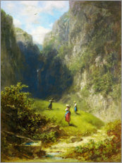 Wall sticker  Hay harvest in the mountains - Carl Spitzweg