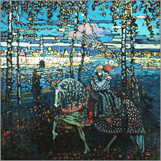 Gallery print  Couple on a horse - Wassily Kandinsky