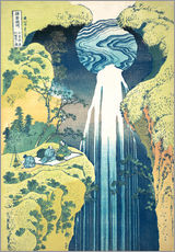 Wall sticker  Waterfall of Amida at the Kiso Street - Katsushika Hokusai