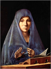 Wall sticker  Mary of the Annunciation - Antonello da Messina