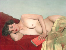 Premium poster Reclining Nude with Book