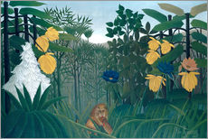 Wall sticker  The meal of the lion - Henri Rousseau
