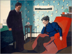 Premium poster Interior With Red Armchair and Figures