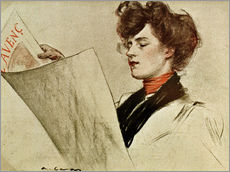 Gallery print  Lady reading L'Avenç - Ramon Casas i Carbo