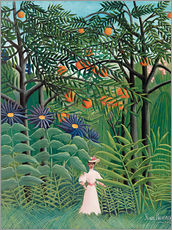 Gallery print  Woman in an exotic forest - Henri Rousseau