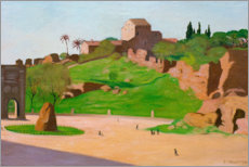 Wood print  Forum romanum - Felix Edouard Vallotton