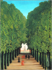 Gallery print  The avenue in the park in Saint-Cloud - Henri Rousseau