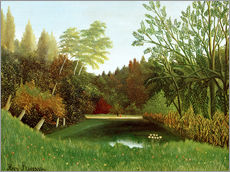 Wall sticker  View of the Bois de Boulogne - Henri Rousseau