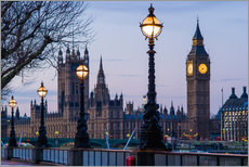 Gallery Print  Houses of Parliament and Big Ben - Walter Bibikow