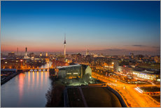 Wall sticker  Berlin Skyline Blue Hour - Stefan Schäfer