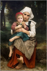 Gallery Print  Breton Brother and Sister - William Adolphe Bouguereau