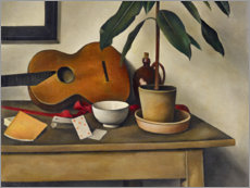 Gallery print  Still life with a guitar - Alexander Kanoldt
