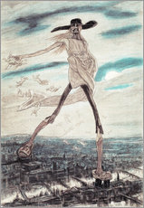 Wall sticker  The Satanic Satan Sowing Tares - Felicien Rops