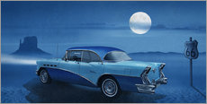 Wall sticker Blue night on Route 66