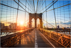 Gallery print  Brooklyn Bridge at sunrise, New York - Jan Christopher Becke
