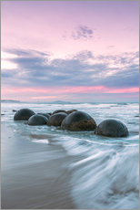 Gallery print  Moeraki boulders, New Zealand - Matteo Colombo