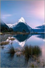 Gallery print  Landscape: sunrise at Milford Sound, Fjordland National park, New Zealand - Matteo Colombo