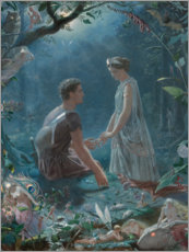 Premium poster  Hermia and Lysander (A Midsummer Night's Dream) - John Simmons