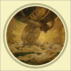 Wall sticker  Atlas and the hesperides  - John Singer Sargent