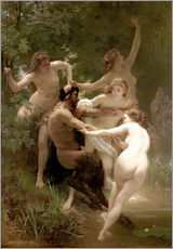 Gallery print  Nymphs and Satyr - William Adolphe Bouguereau