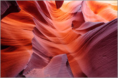 Gallery print  Glowing Passage in Lower Antelope Slot Canyon, Page, Arizona, USA - Peter Wey