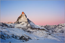 Gallery print  Matterhorn at sunrise, view from Gornergrat, Zermatt, Valais, Switzerland - Peter Wey
