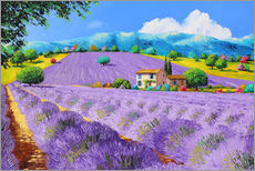 Wall Sticker  Lavenders under sunshine - Jean-Marc Janiaczyk