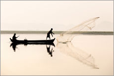 Wall sticker  Fisherman on the Taungthaman lake - Lee Frost