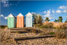 Gallery print  Colorful beach huts in Brittany (France) - Christian Müringer