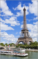 Wall Stickers  Tour boat on River Seine with Eiffel Tower - Neale Clarke