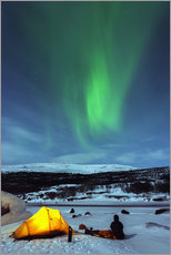 Gallery print  Northern lights and camp - Christian Kober