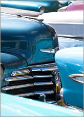 Gallery print  Vintage American cars parked on a street in Havana Centro, Havana, Cuba, West Indies, Central Americ - Lee Frost