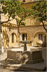 Wall Stickers  Patio with fountain, Seville - Guy Thouvenin