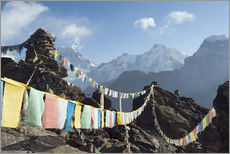 Wall sticker  Prayer flags, view from Gokyo Ri - Christian Kober